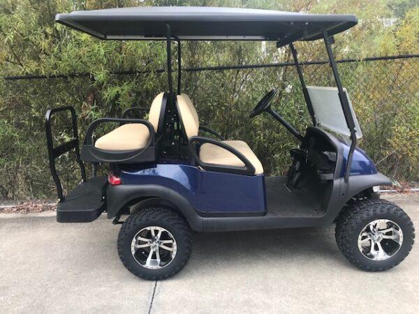 Blue Lifted Club Car